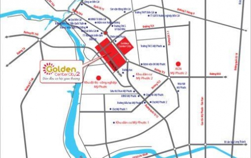 Bán đất mặt tiền đường Ngô Quyền, TX.Bến Cát, sổ đỏ thổ cư 100%.