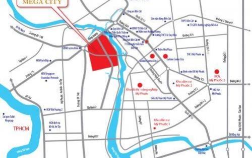 Bán đất mặt tiền Hùng Vương, phường An Điền, DT: 6 tr/m2