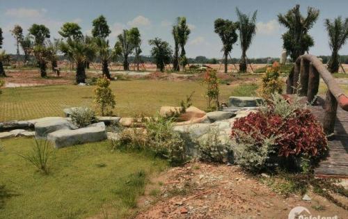 Bán đất mặt tiền Hùng Vương, giáp Ngô Quyền, xã Bến Cát, LH: 0981179718
