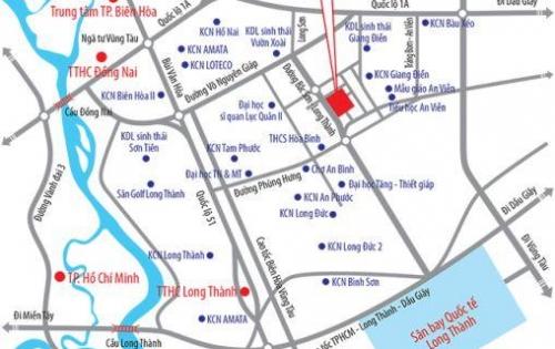 Đất nền Tam Phước đại lộ Bắc Sơn Long Thành, Tp. Biên Hòa, Đồng Nai