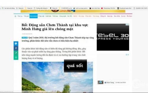 Bắt kèo Đức 3ty giờ ôm hận, cần bán 5 lô đất đẹp trong KCN Minh Hưng giá rẻ cần trả nợ thiện chí bớt nhiều