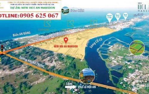 New Hội An Mansion dự án có vị trí độc tôn bởi ôm trọn một bên sông Trà Quế và một bên là biển An Bàng