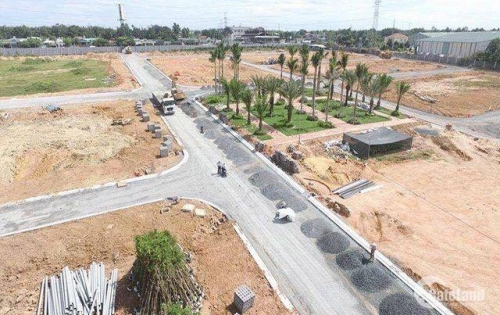 Mở bán dự án đất nền ngay cầu chợ trạm, mặt tiền quốc lộ 50,giá 560tr,shr