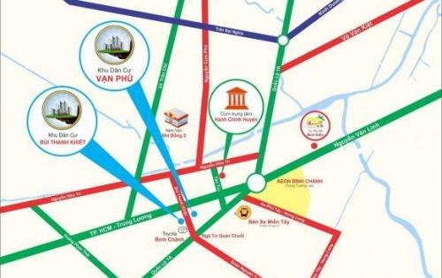 Bán gấp lô đất 4x29m đất Bùi Thanh Khiết, trung tâm hành chính Bình Chánh, giá 680 triệu