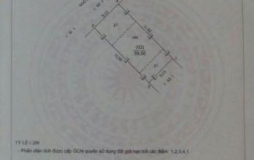 Bán gấp đất thổ cư đẹp ngõ 100 phố sài đồng DT: 59m2, đường oto 6m