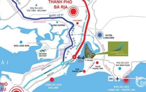 Bán rẻ, giá cực tốt đất nền dự án Marine City 3 mặt giáp sông cực đẹp