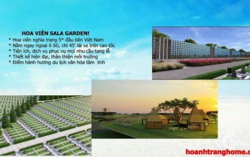 Bán mộ đơn hoa viên nghĩa trang Sala Garden5 Sao Long Thành Đồng Nai