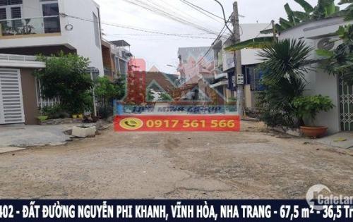 Bán đất mặt tiền 5m đường Nguyễn Phi Khanh, Hòn Xện, Nha Trang