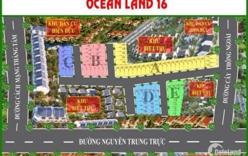 Bán đất nền siêu phẩm Ocean Land 16 Phú Quốc, chỉ 14tr/m2