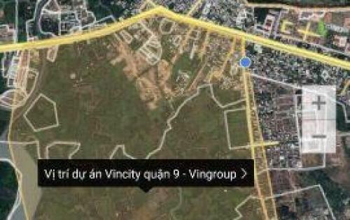 Bán đất mặt tiền VINCITY Quận 9 khu dân cư hiện hữu, DT 135m2 XDTD, SHR từng nền