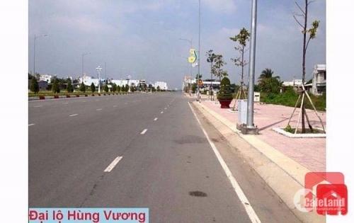 Bán gấp lô đất nhà phố mặt tiền đường Hùng Vương, đối diện Sở Công an tp.Tân An