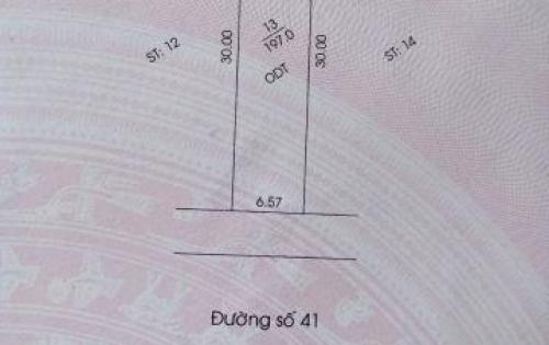 Bán đất TDC Phú Chánh B khu tam giác vàng đường Số 41, DT 197m2, 3tỷ050 đối diện trường Nguyễn Khuyến.
