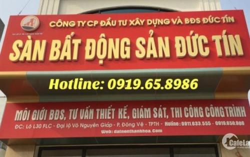 Bán nhanh lô đất thuộc mặt bằng 530 - Khu đô thị Nam Thành phố Thanh Hóa. - diện tích 90 m2
