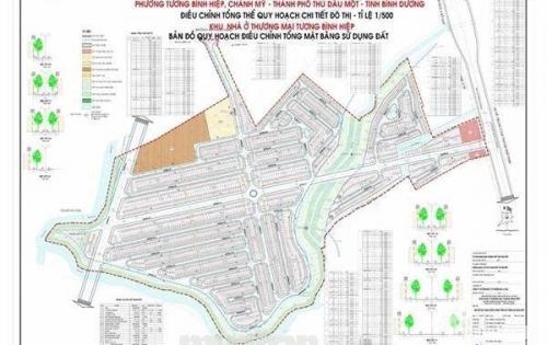 Dự án khu nhà ở thương mại Tương Bình Hiệp, mặt tiền quốc lộ 13 giá 799tr/nền