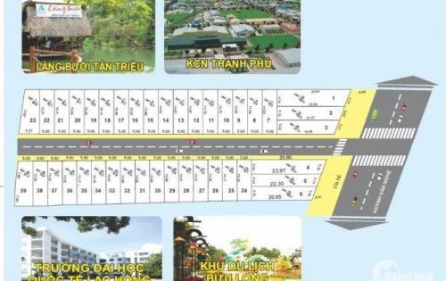 Dư đất bán nhanh 3 lô đất giá rẻ 740trieu. mặt tiền đường DT 768, xã Bình Hòa, huyện Vĩnh Cửu