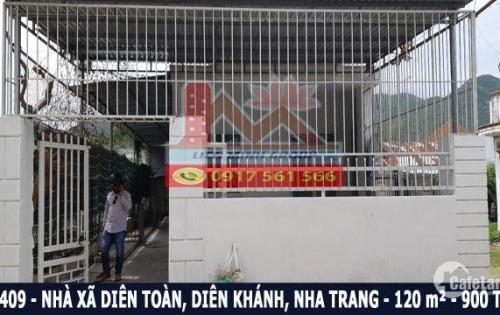 Bán nhà 2 mặt tiền gần đường Võ Nguyên Giáp xã Diên Toàn, Diên Khánh