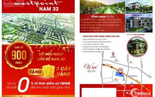 NAM 32 !!! Để sở hữu lô đẹp NHẤT dự án, mua nhà nền RẺ NHƯ CHUNG CƯ (từ 2tỷ7/ căn)- LH:0968908189