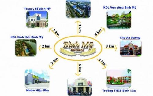 Bán đất thổ cư mặt tiền đường Võ Văn Bích, xã Bình Mỹ, Củ Chi giá đầu tư tốt nhất thị trường