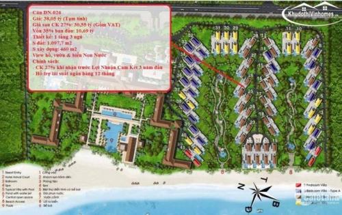 Chuyển Nhượng Biệt Thự Vinpearl Đà Nẵng 1 vốn năm đầu chỉ 10,69 tỷ - LH 0966119329