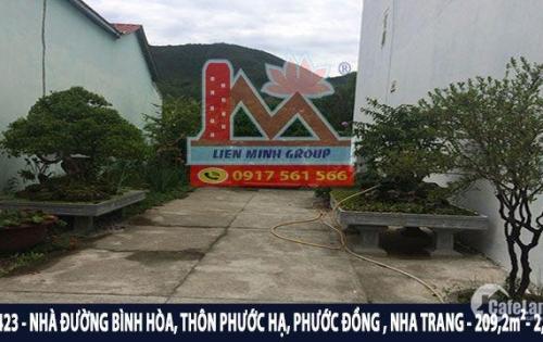 Bán nhà 2 tầng đường Bình Hòa, nhánh đường Nguyễn Tất Thành, Phước Đồng, Nha Trang
