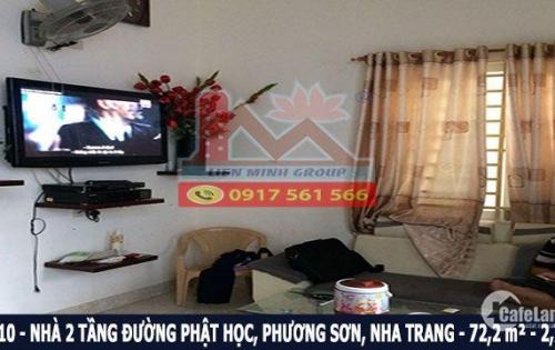 Bán nhà 2 tầng ngay trung tâm thành phố đường Phật Học, Phương Sơn, Nha Trang