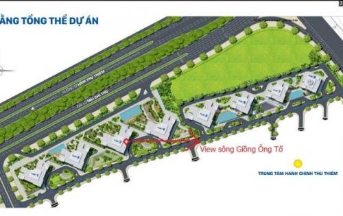 Bán căn hộ 2 pn dự án The Sun Avenue quận 2 dt 76m2 view sông giá 3,2 tỷ