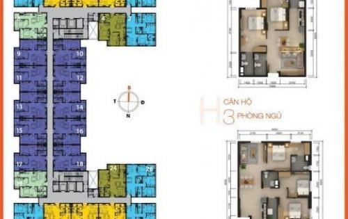 Bán căn hộ Sky 9, view đẹp, tầng cao, nhà mới 100% vào ở liền, LH: 0906.606.182