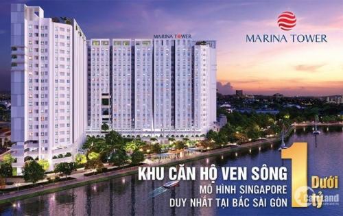 Marina riverside TT 300tr nhận nhà, TPBank hỗ trợ 70% LS 0%, 1,1 tỷ/ căn 2PN 60m2