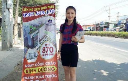 Bán căn hộ giá rẻ mặt tiền QL13, cách ngã 4 Bình Phước 2 phút, trả góp 7tr/tháng, 3 mặt view sông