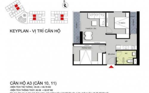 Bán căn hộ 2pn 65,05 m2 đầy đủ nội thất giá 1 tỷ 411 tr các svd Mỹ Đình 7p - vào tên HĐMB