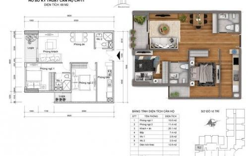Bán căn hộ 2011 diện tích 66,7m2 với giá 2 tỷ 1 tại dự án Golden Field
