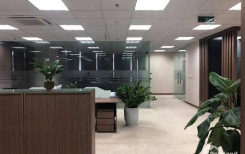 Cho thuê văn phòng trong tòa building Cầu Giấy 160m2 sàn thông chỉ 24tr