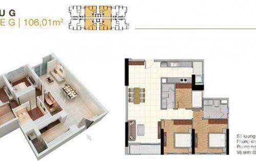 Cần cho thuê căn 3PN 106m2 The Park Residence, giá thuê 11 triệu, nhà mới 100% chưa sử dụng