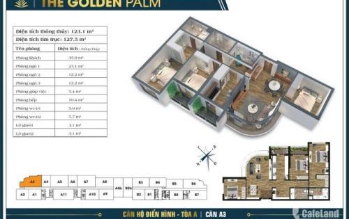 Cần cho thuê chung cư cao cấp Golden Palm Lê Văn Lương 97m2