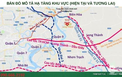 Cơ hội vàng đầu tư đất TP mới Biên Hòa, Lk Quận 9, giá rẻ, tăng gấp đôi sau 1 năm