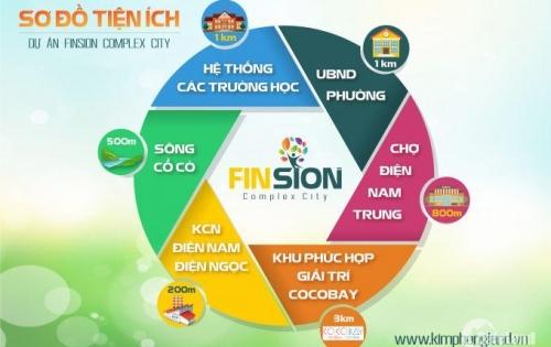 Dự Án Mới Nam Đà Nẵng khu đô thị FINSION COMPLEX CITY Giai đoạn 1 - đặt chỗ chỉ 30tr/lô.