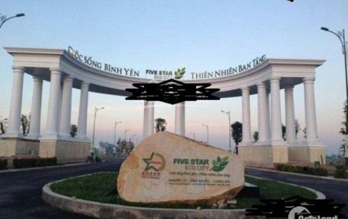 đất dự án five star eco city tại mặt tiền đường Đinh đức Thiện,TP HCM