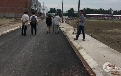 Đất nền đường Nguyễn Hữu Trí, Tân Túc,100m2,SHR,XDTD,100%tc ,liền kề KCN ,bệnh viện trường học , chợ