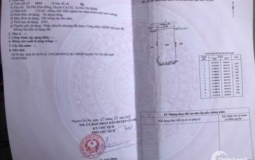 Bán đất đường Nguyễn Thị Nê vào 100m