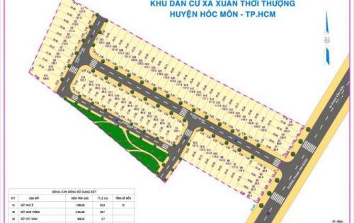 Đất nền Xuân Thới Thượng Hóc Môn, suất nội bộ, hàng đẹp giá tốt, LH: 0938823246; 0926609936 (Linh)