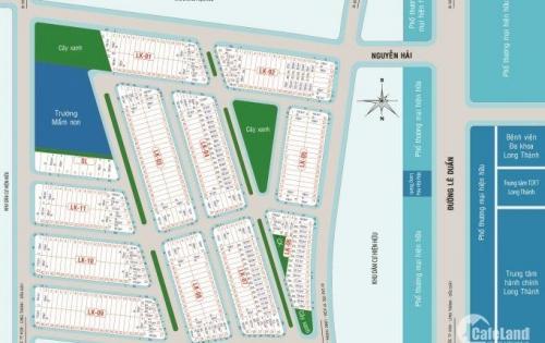 Bán đất nền dự án EcoTown Long Thành 4 mặt tiền đường trung tâm thị trấn Long Thành