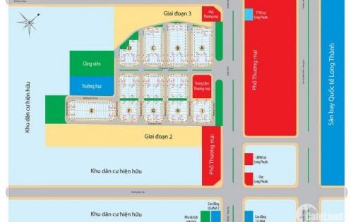 Bán đất MT Quốc Lộ 51 xã Long Phước, Long Thành, 7tr5/m2, SHR, CSHT hoàn thiện. LH: 0901545383