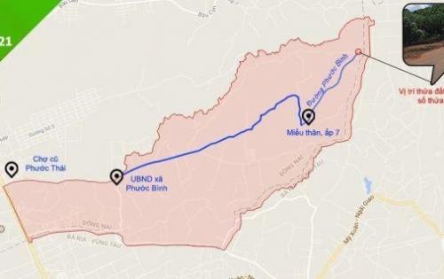 Cần bán 1324 m2 đất 2 mặt tiền tại Phước Bình Long Thành giá 2,5 tỷ