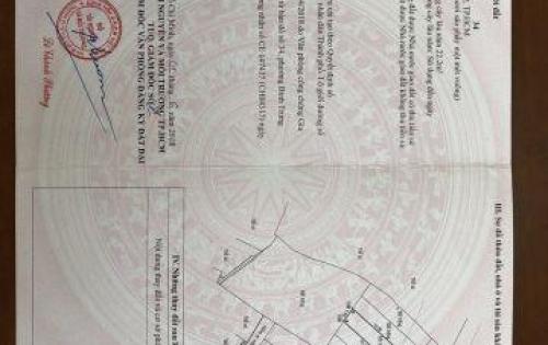 Sang gấp đất thổ cư 94m2 đường Nguyễn Tuyển, Q.2, đã có SHR, ai LH trước bán trước. LH: 0937367708