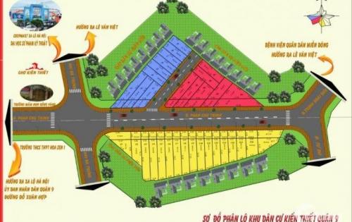 Cần tiền bán gấp đất quận 9 đường Phan Chu Trinh, cư xá Kiến Thiết, Hiệp Phú
