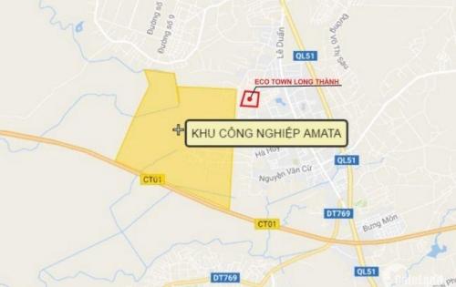 Dự án Eco Town Long Thành mở bán đợt cuối đất nền mặt tiền trung tâm hành chính Long Thành.