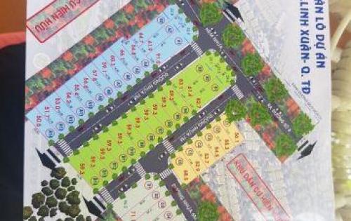 Gia đình cần tiền nên bán gấp 57,8m2 đất ngay đường số 8, LInh XUân, Thủ Đức.