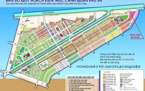 Mở bàn nền dự án KDC 5A Sóc Trăng , trung tâm tp Sóc Trăng. Giá chỉ từ 352 triệu