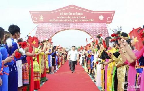 Bán đất đại lộ Thái Nguyên - đường Bắc Sơn kéo dài giá 15tr/m2. LH 0968886412