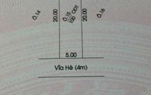 Bán đất đường số 8 KDC Hiệp Thành 3  DT 5x20=100m2 sát bên chung cư HT3, giá 3ty6.
